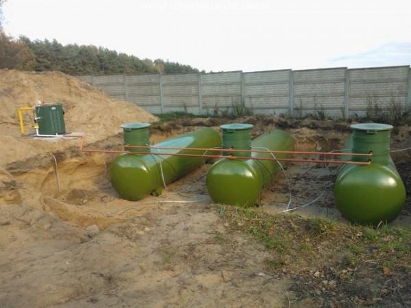 Wojar zbiorniki na propan zielone 4