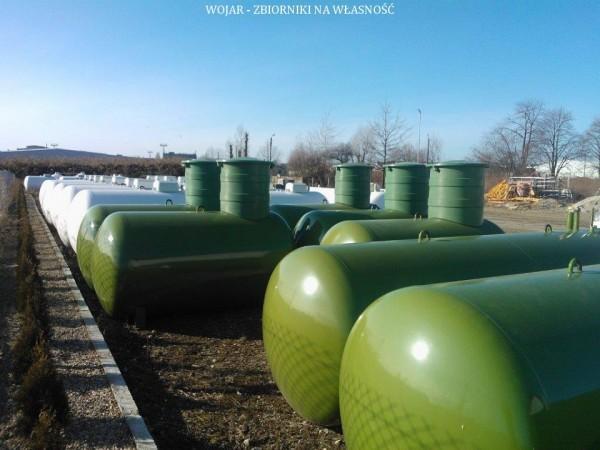Wojar zbiorniki na propan zielone 8